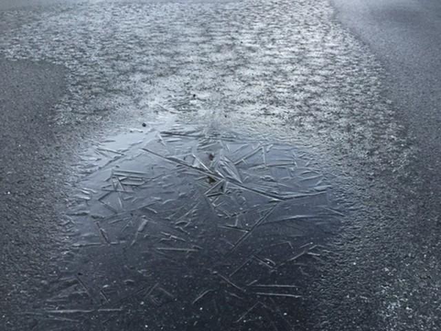 路面凍結2