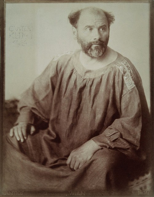 Portrait Gustav Klimt. Photographie. 1914.Portrait of Gustav Klimt. Photography by Trcka Josef Anton.  1914.